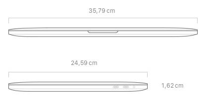Dimensiones MacBook Pro 16 pulgadas