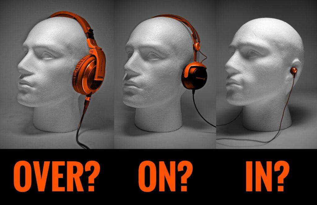 Cancelación del ruido in-ear, on-ear y over-ear